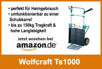 Wolfcraft Ts1000 beste Heimwerker Sackkarre