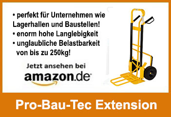 Pro Bau Tec Extension beste Profisackkarre